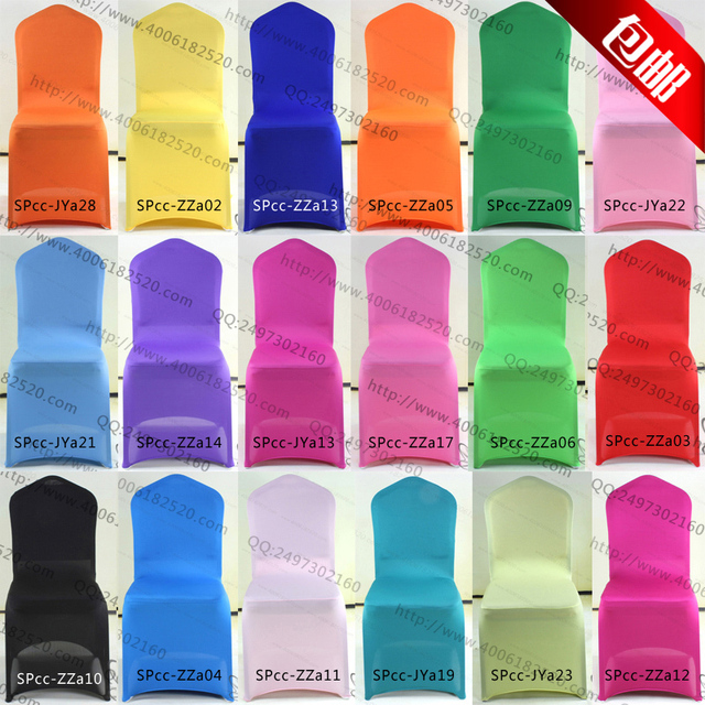 Elastic Chair covers for wedding banquet  banquet chair covers back cover plus size thickening