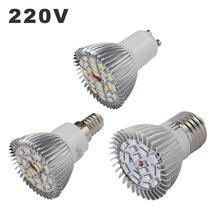 220 В светодиодные фары 18 светодиодный s 28 светодиодный s полный спектр E27 E14 GU10 лампа для роста лампы фитолампы лампы для растения на гидропонике