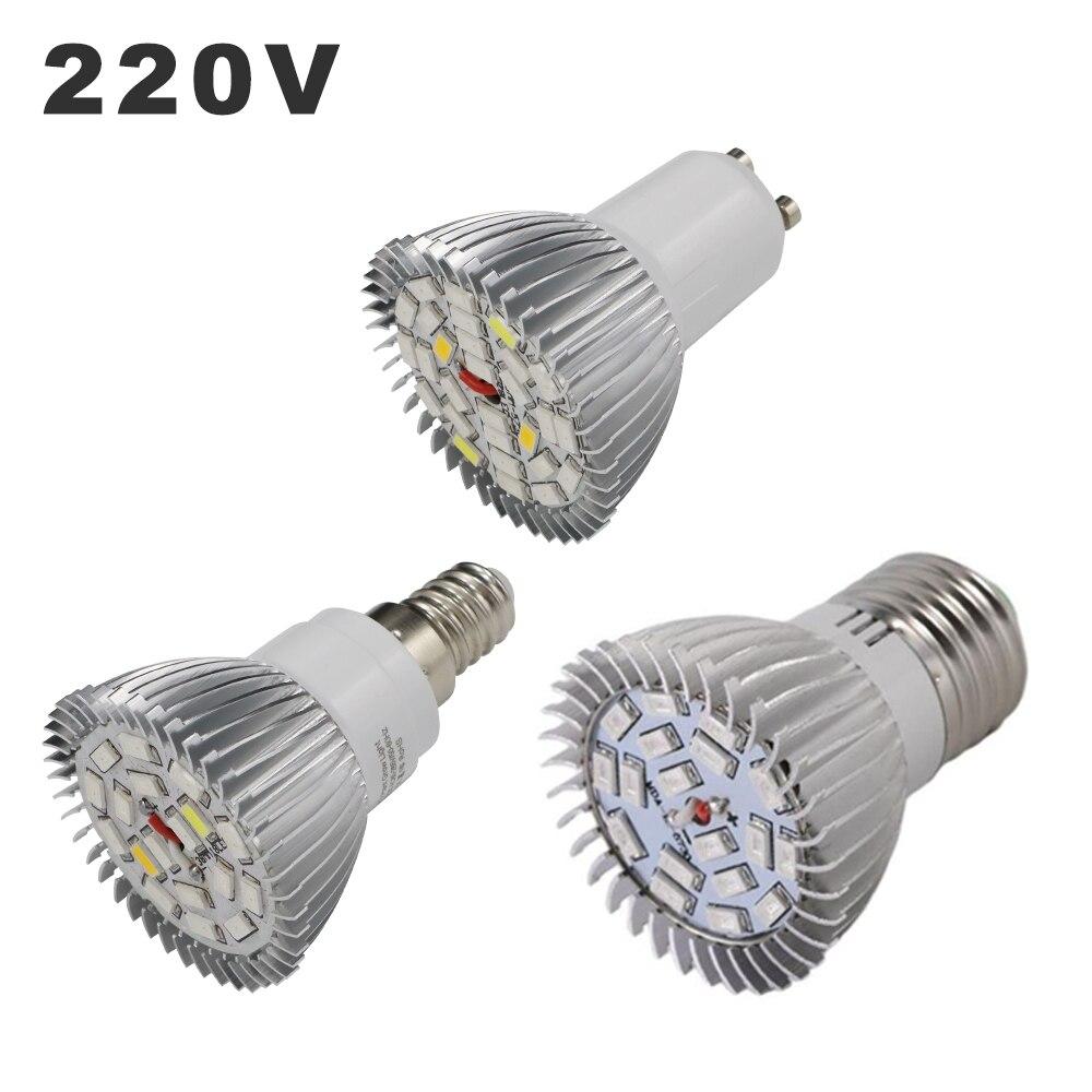 220V LED Growing Lights 18LEDs 28LEDs Full Spectrum E27 E14 GU10 Growth Lamp Bulb Fitolampy Phyto Lamps For Plants Hydroponics