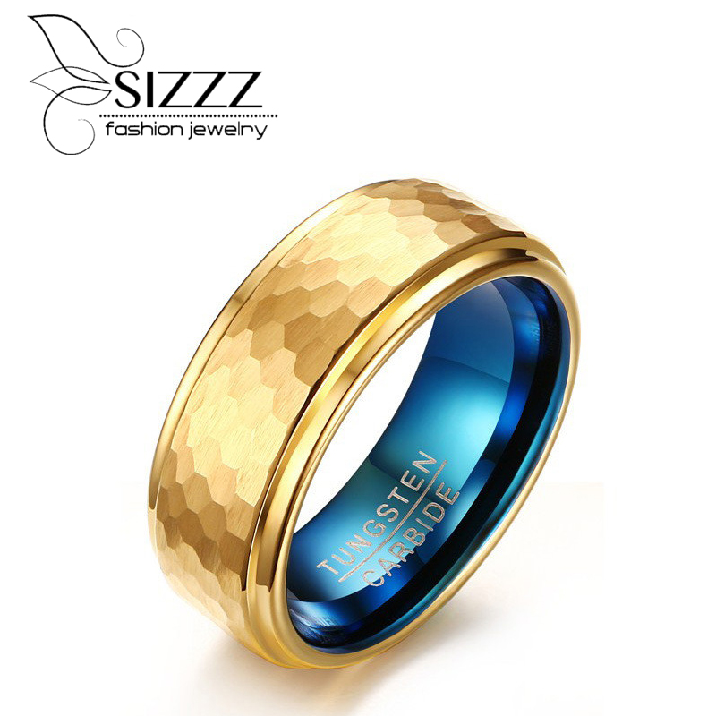 Goldring breit herren  Online Get Cheap Wolfram Gold Ring -Aliexpress.com | Alibaba Group