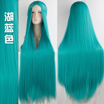 100cm Multicolor Wigs 5