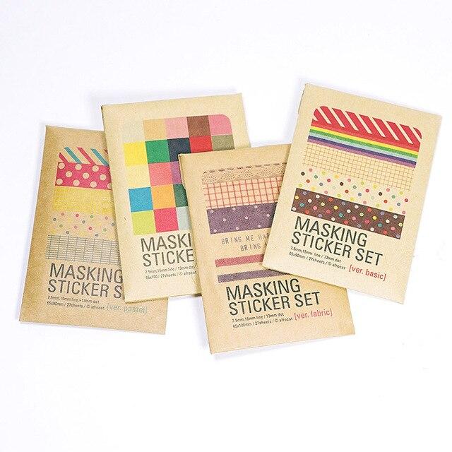 27 sheets/bag DIY Cute Kawaii Paper Dot Sticker Vintage ULIKE Masking Sticker Set for Diary  Scrapbooking Free shipping 546