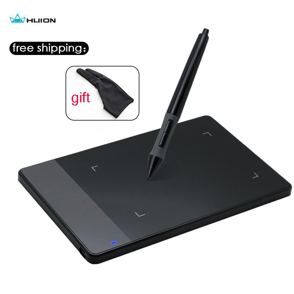 """Prix pour Huion 420 4x2.23 """"professionnel Graphique Dessin Tablet Signature Pad Stylo Numérique Avec Mini USB + Anti-fouling Gant De Noël Cadeau"""