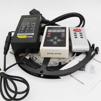 5M 6803 IC 30LED/M 5050 Digital Dream Color RGB LED Strip Non Waterproof 12V+ 133 Change RF Controller+12V 5A Power Supply