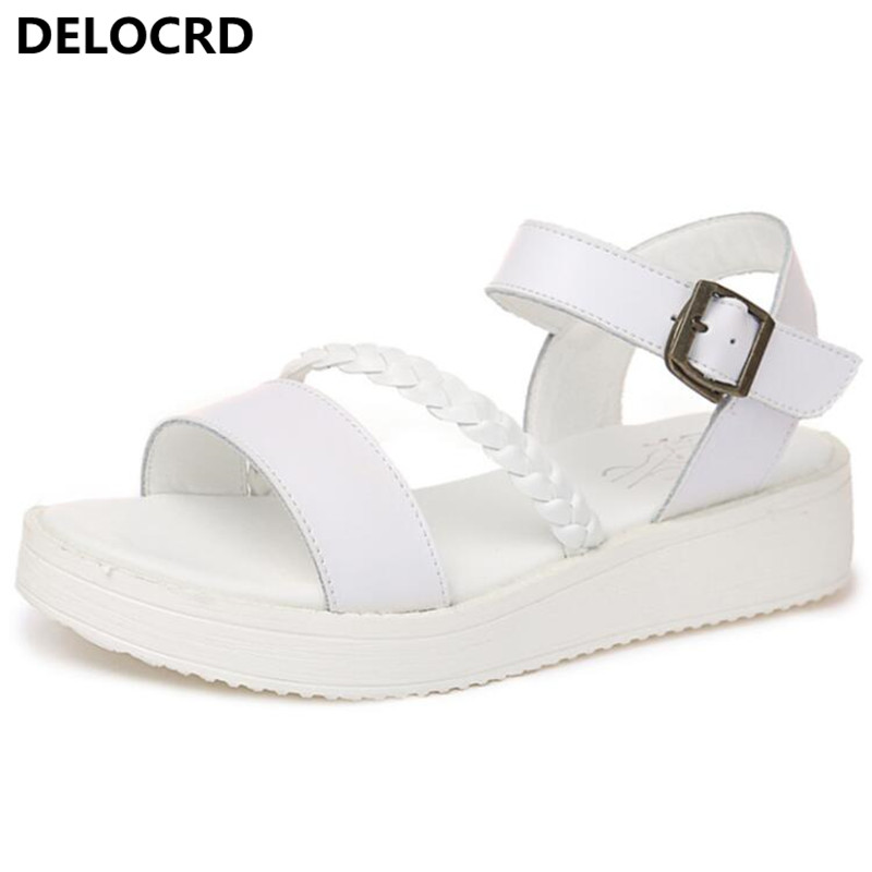 Summer New Sandals Shoes Open-toed Sandal Roman Style Sandals Fashion Word Buckle Fish Mouth Sandals Casual Shoes Shoes Footwear msfair round toe wedges women sandals fashion crystal high heels casual women sandal shoes 2018 summer open toed buckle sandals