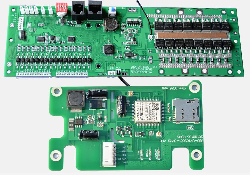 16S 48V 50A Lifepo4 CAN Communication Base Station Energy Storage BMS Lithium Battery Protection Board RS485 RS232 Bluetooth APP