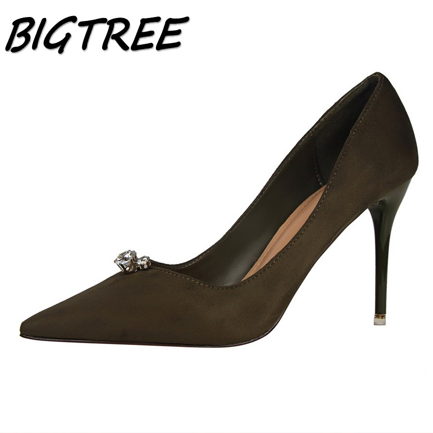 BIGTREE summer women Pointed Toe High heel shoes woman shallow pumps ladies Concise Crystal flock Thin Heels single shoes 34-39 satya priya sinha bitapi c sinha and qamar qureshi the asiatic one horned rhinoceros rhinoceros unicornis