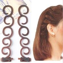 2 Pcs set Fashion Wanita Multi Fungsi Alat Styling Rambut Bahasa Perancis  Mengepang Diy Tulang Ikan Bun Pembuat Rambut Aksesoris. 2574e85552