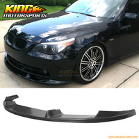 For 2004 2005 2006 2007 BMW E60 530 525 535 Type H Front Bumper Lip Spoiler Poly Urethane