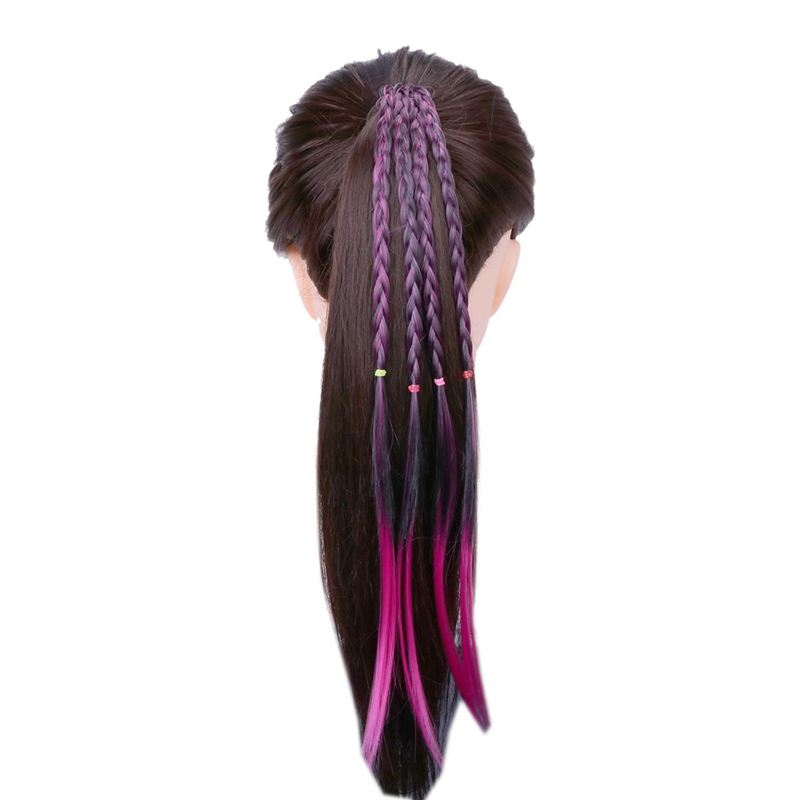 Sale Bohemian Colorful feather Wig Braids   Headwear   for Women Girls Rubber Hairband Hair Ring Hair Bands Hair Jewelry Accessories