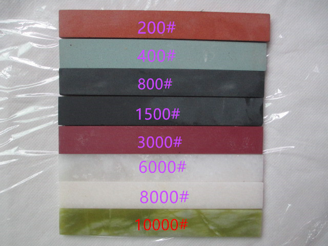 Fixmee 200-10000# Fine Grinding Emerald Oil Stone Natural Emerald Green Agate Polishing Whetstone 150*20*5mm Oilstone