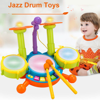 Baby Mucical Microphone Kit Set Jazz Drum Toys Early Educational Toys Instrument Kit Set Best Gift for Children