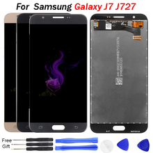 цена на J727 lcd For Samsung Galaxy J7 2017 LCD Display Touch Screen With Digitizer Assembly Parts Front Glass Replacement J727A Screen