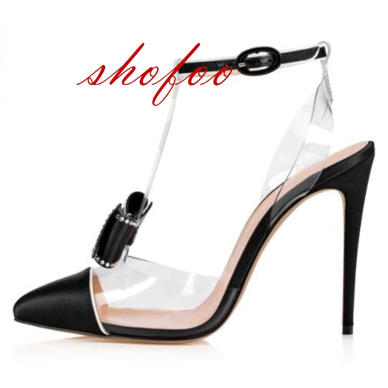 SHOFOO shoes,Elegant fashion free shipping, banquet ladies sandals, pointed toe sandals, 12 cm high-heeled sandals. SIZE:34-45SHOFOO shoes,Elegant fashion free shipping, banquet ladies sandals, pointed toe sandals, 12 cm high-heeled sandals. SIZE:34-45
