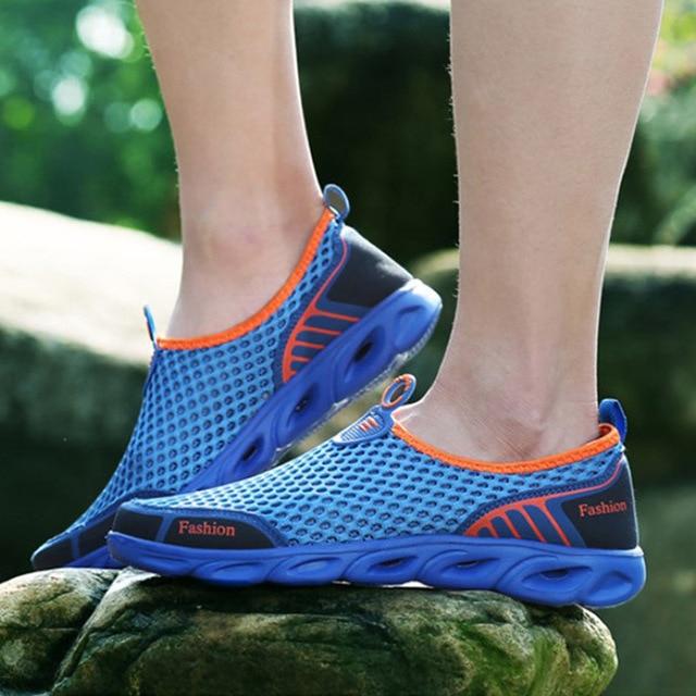 Kadın Örgü Kayma Bahar Düz Spor Ayakkabı Kadın Platformu Rahat Nefes Çift Ayakkabı Bayanlar Artı Boyutu Moda Ayakkabı