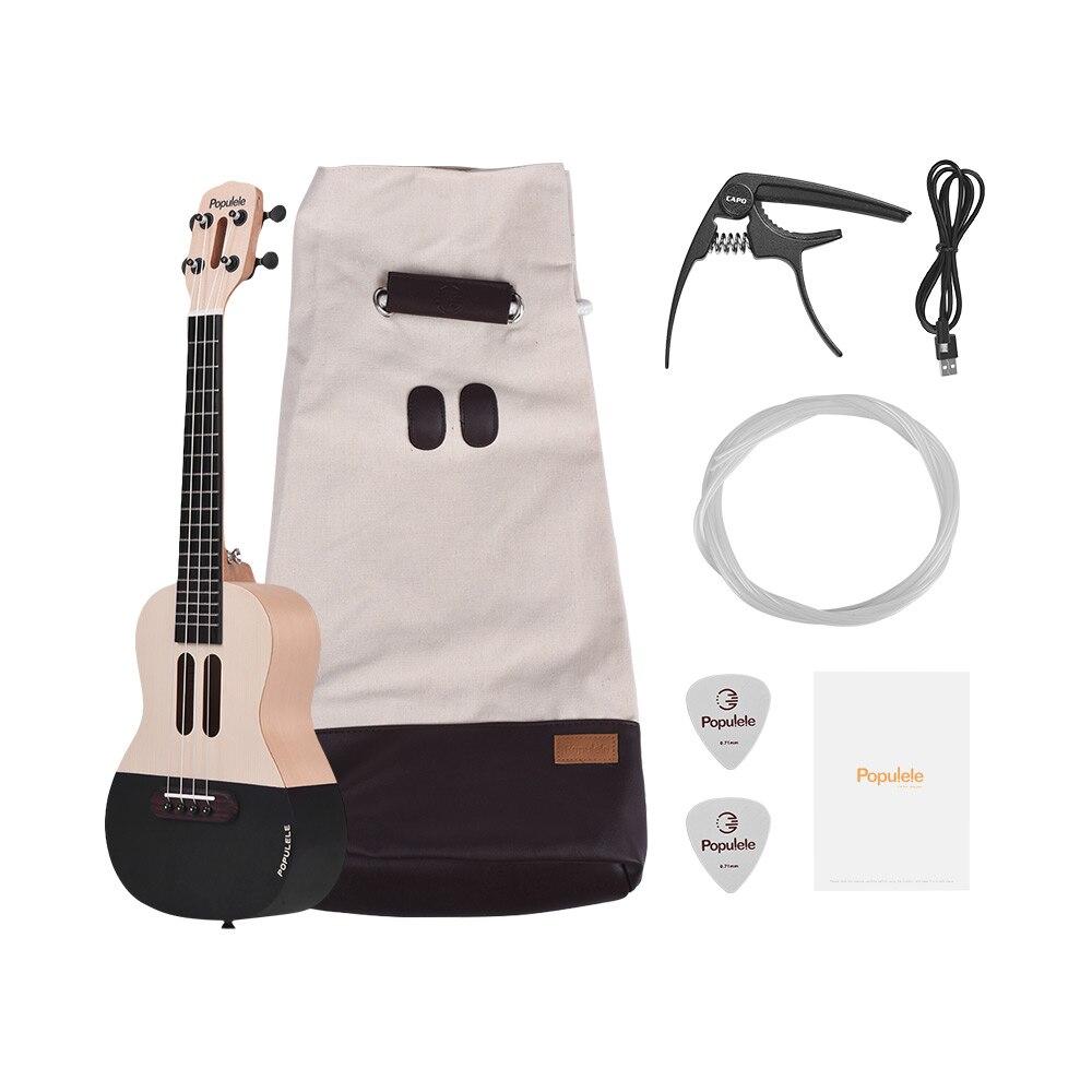 23 Smart Konzert Ukulele Ukulele Uke Kit mit LED licht für Anfänger mit Tragen Tasche Saiten Capo Picks USB ladekabel