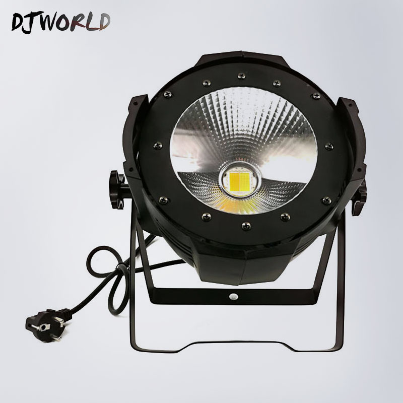 New LED Par Light COB 100W DMX512 2 Channels Aluminium Warm White Cool White Strobe Effect Stage Lighting Theater lighting sb331 cool skull head style 2 led red light keychain w sound effect white black 2 x ag10