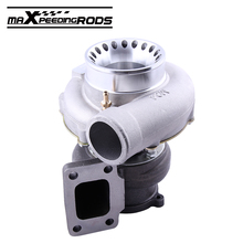 Turbo Charger for GT35 GT3582 AR.70 0.63 Anti-surge Compressor Water Oil Water Cold 4 Bolt T3 Up to 600HP Turbine Gasket