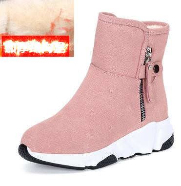 New Fashion Women Boots Snow Boots Sneakers Plush High Top Velvet Cotton Shoes Warm Lace-up Non-slip boots 38