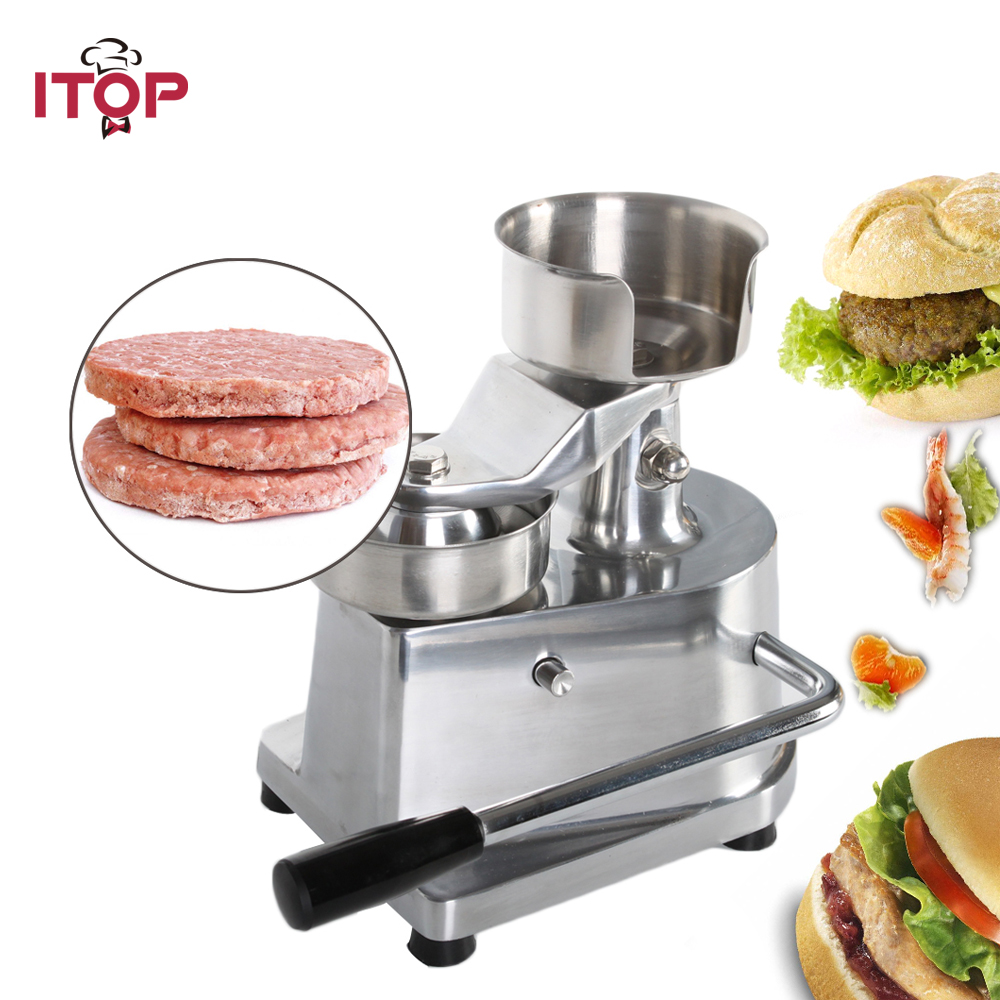 ITOP 100mm 130mm 150mm Hamburger Press Burger Forming Machine , Hamburger Patty Maker,Manual Hamburger Making Machine