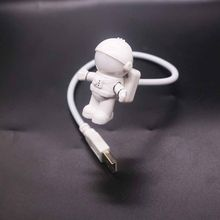 USB Astronaut LED Night Lights Astros USB Night Lights Creative USB Book Lights Computer Table Lamps(China)