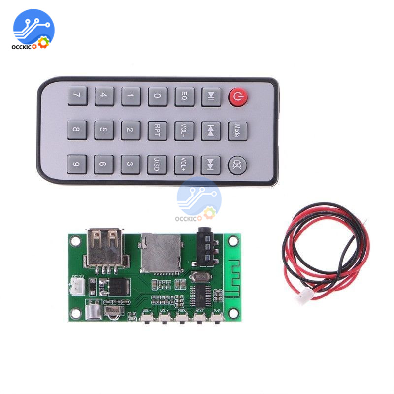 USB KCX BT001 Wireless Bluetooth 4.2 Decoder Board Audio Receiver With Remote Control MP3 Decoder DAC For Arduino Speaker