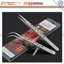 2pcs/set high hardness Precision Antimagnetic stainless steel dull polish Tweezers set tools for phone welding repairs