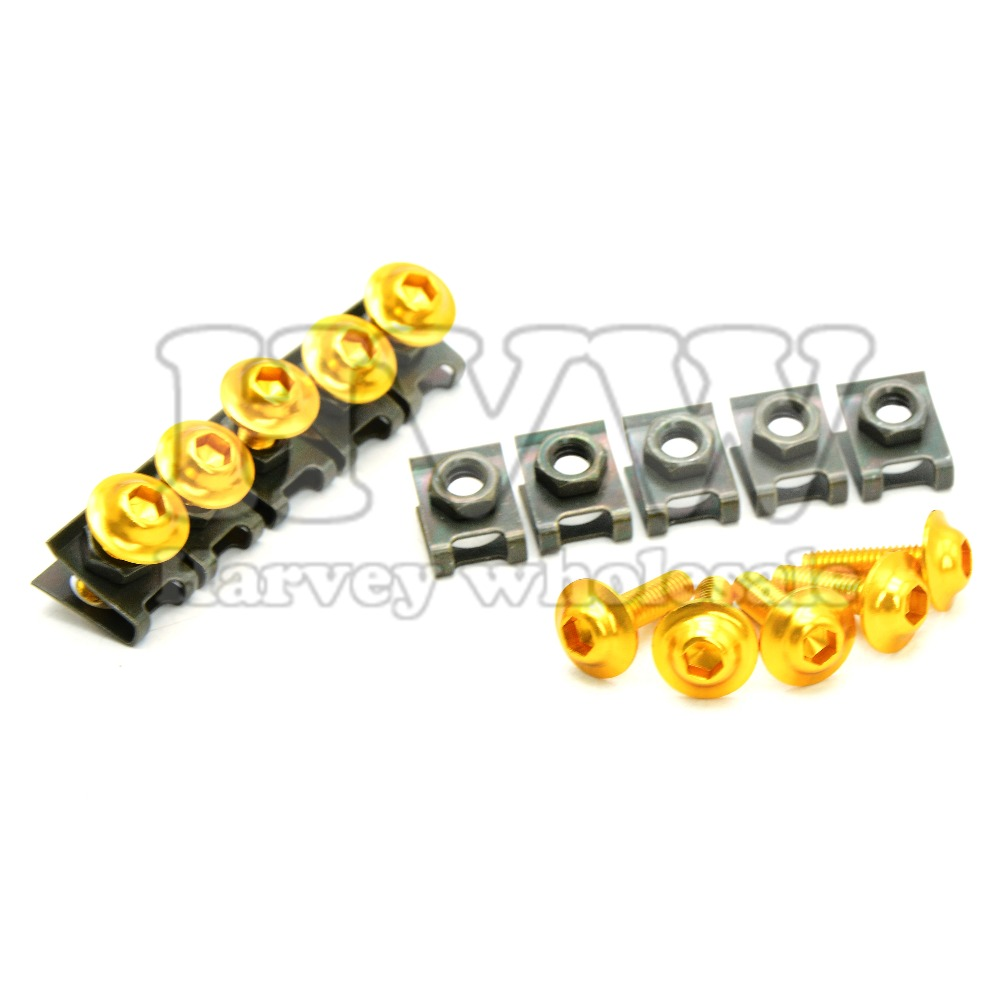 6mm CNC Motorcycle Fairing body work Bolts Screws 10 pcs For Ducati 821 MONSTER 2014 - 2015 SUZUKI DL650 V-STROM GSX 600F/750F brand new cnc universal motorcycle accessories fairing body work bolts screws for ducati monster 795 1200 s carbon