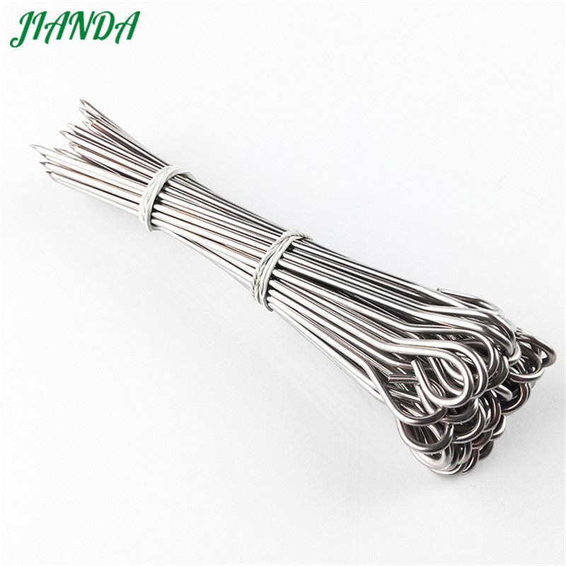 20pcs Stainless Steel Barbecue BBQ Skewers Needle Kebab Sticks Kitchen Utensils Outdoor Camping Picnic Tool in Sticks from Home Garden