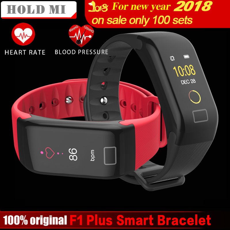 HoldMi Color Screen Waterproof F1 Plus Smart bracelet Wristband Intelligent Bracelet Call Reminder Step Pulse Heart Rate Monitor