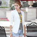 New 2016 Large size women a buckle Spring and Autumn Korean version of Slim small suit jacket women blazer women A561