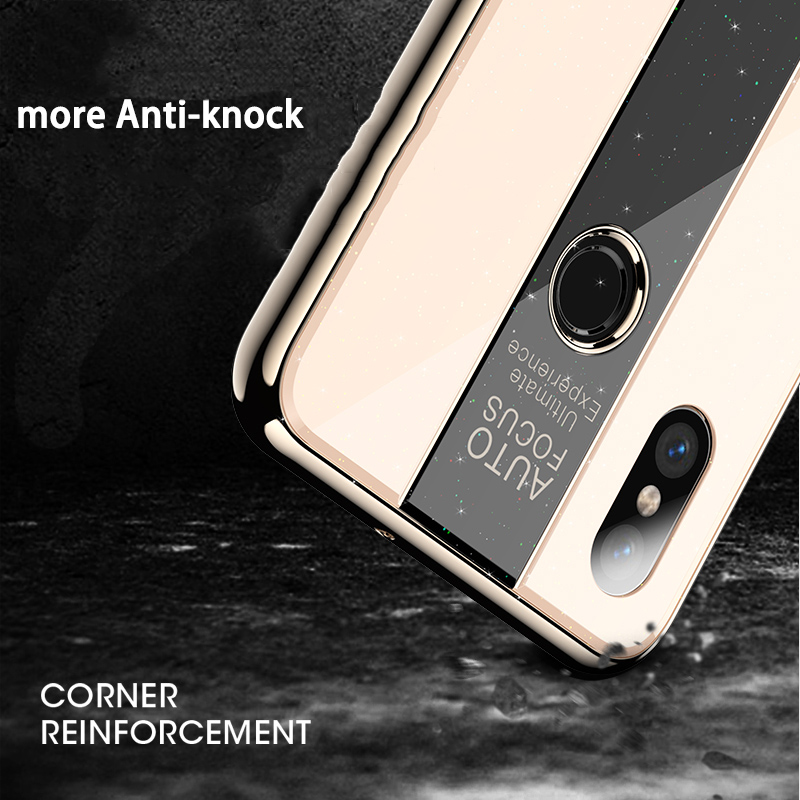 BONVAN Phone Case for Huawei Honor View 20 10 Shockproof Plating TPU PC Glass Mirror Cover for Honor V20 V10 Fundas view10 in Fitted Cases from Cellphones Telecommunications