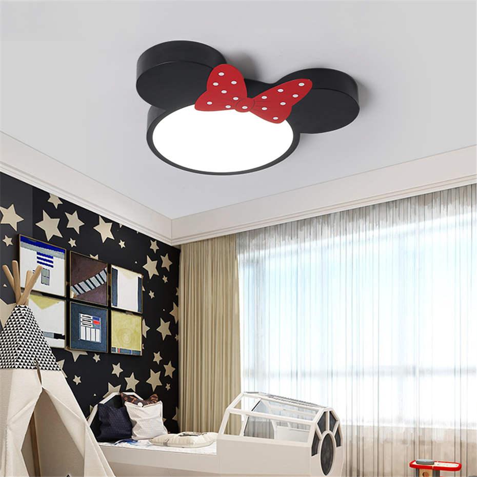 Dessin animé enfants pvc Mickey souris plafonnier pour enfants étude chambre salon luminaires LED télécommande luminaire - 6