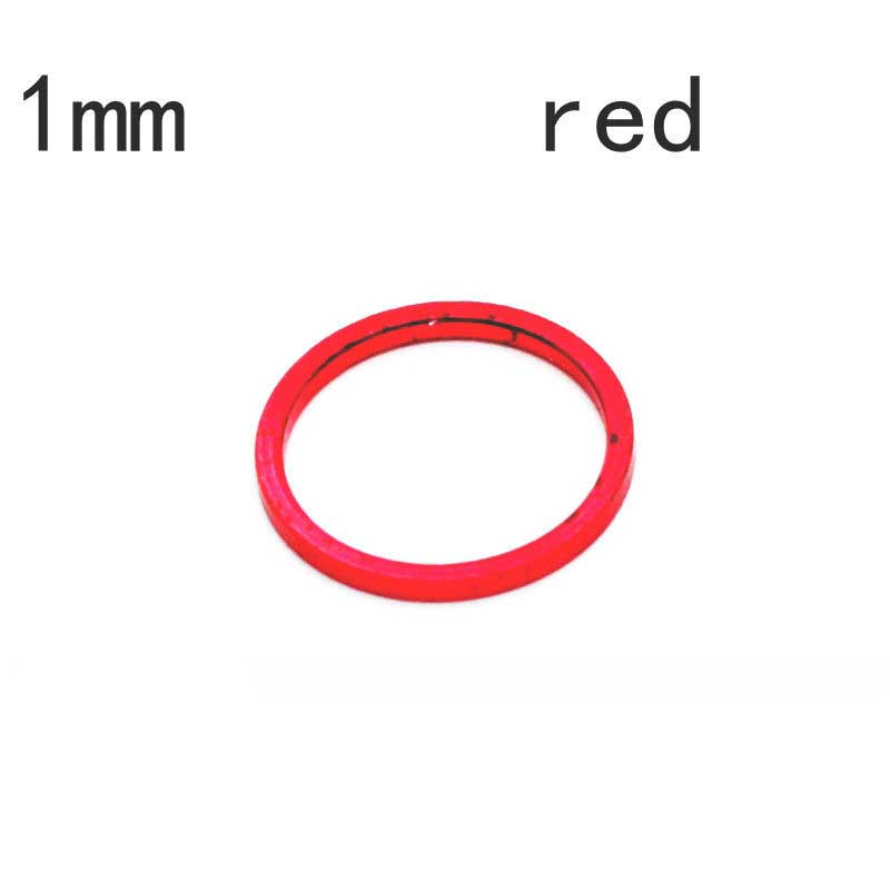 ChainRing Nut 1.5mm Alloy Alumium Spacer Kit 5 pcs Red