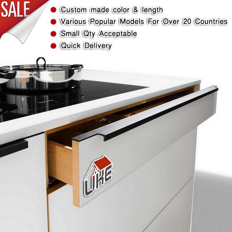 UKE Custom Made Long Aluminum Edge Profile Handle Hidden Cabinet Handles Profile Handles For 18mm Board