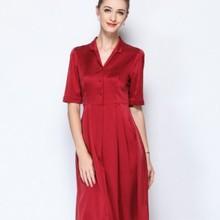 Peso pesante vestito di seta femminile vestito da estate 2018 un nuovo  grande formato di seta di gelso a medio lungo denaro. 7a726f33e8c