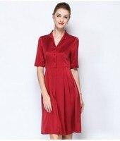 Heavy weight silk dress female 2018 summer dress a new large size of mulberry silk medium long money.