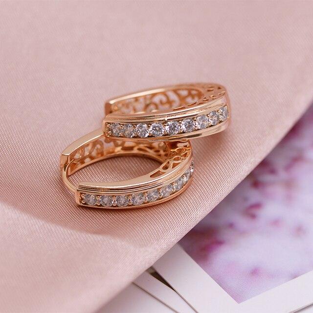 Mxgxmpa ovale nouveau Style creux boucles doreilles pour femmes bijoux de mode couleur or AAA + Zircon bonne qualité