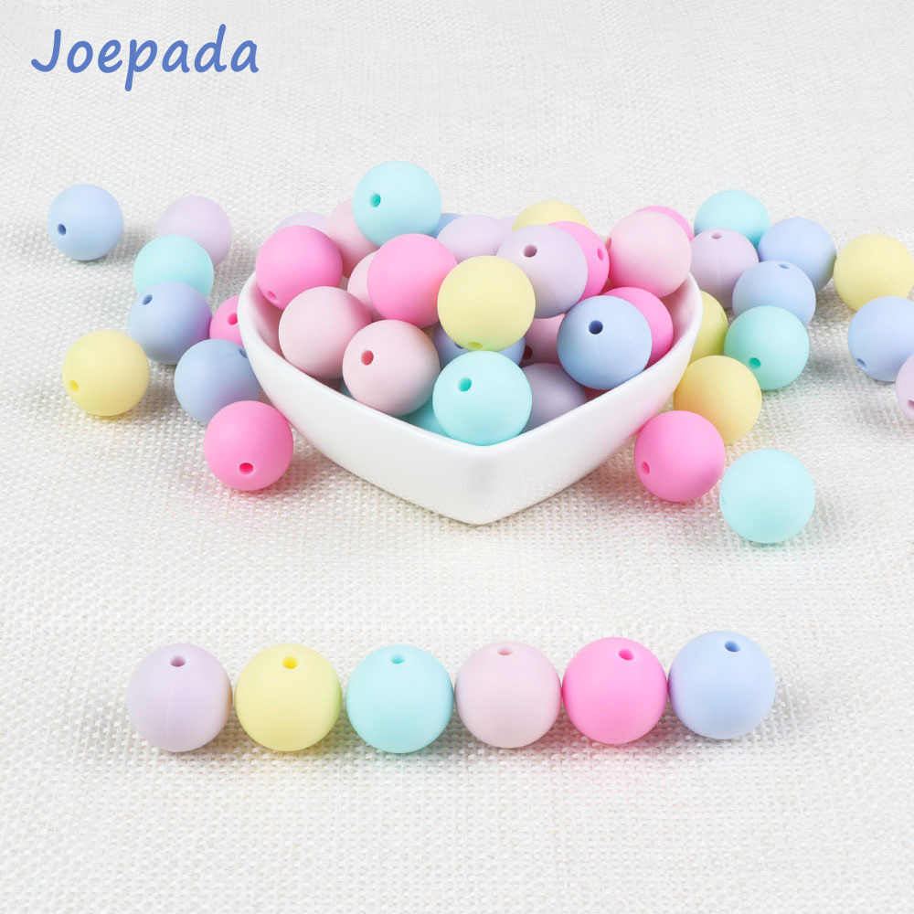 Joepada 10Pcs Silicone Beads 9mm Food Grade Baby Teething Necklace Pacifier Clips Mom Nursing DIY Jewelry Baby Teether Toys