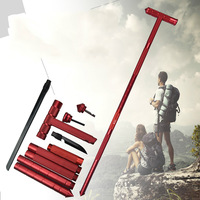 Outdoor Multi Functional Aluminum Alloy Climbing Stick Sports Camping Hiking Walking Cane