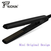 Mini Ceramic Electronic Hair Straightener Iron Straightening