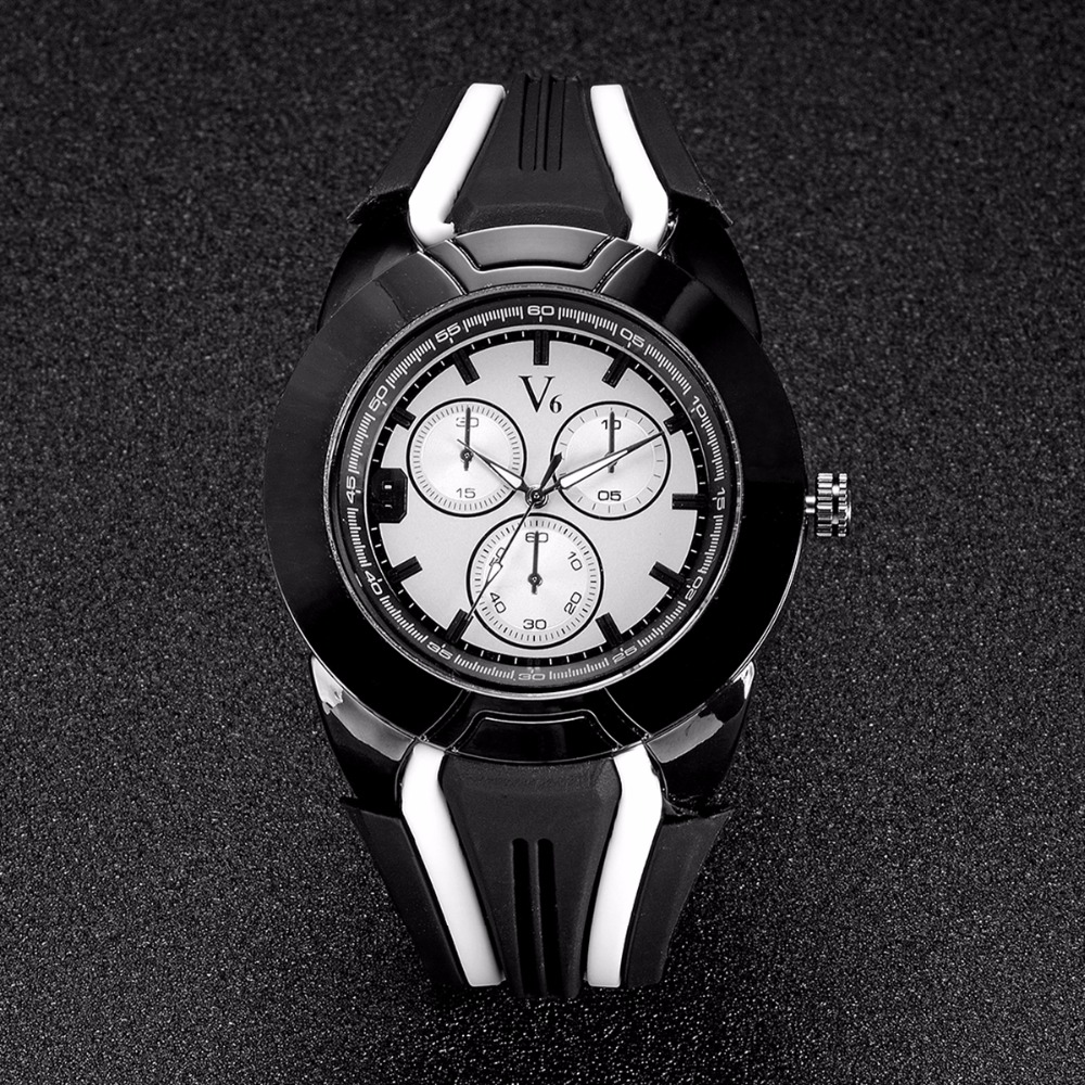 NEW V6 Men's Watch Top Brand fashion watches quartz watch male relogio masculino men Army sports Analog montre homme reloj clock fashion top gift item wood watches men s analog simple bmaboo hand made wrist watch male sports quartz watch reloj de madera