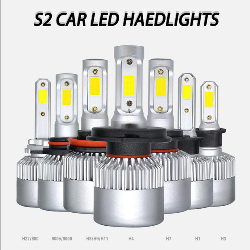 2X3000 K H4 LED H7 H11 H8 HB4 H1 H3 HB3 Automatique S2 Voiture Phares Ampoules 72 W 8000LM Voiture Style 6500 K 4300 K 8000 K LED automotivo ampoule2X3000 K H4 LED H7 H11 H8 HB4 H1 H3 HB3 Automatique S2 Voiture Phares Ampoules 72 W 8000LM Voiture Style 6500 K 4300 K 8000 K LED automotivo ampoule