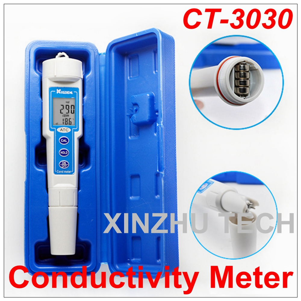 New Arrival  CT3030-Type Pen Conductivity Meter Digital Portable Tester Measurement Range Of  0 To 1999 uSNew Arrival  CT3030-Type Pen Conductivity Meter Digital Portable Tester Measurement Range Of  0 To 1999 uS