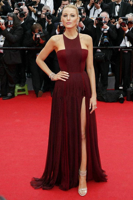 Sexy Gossip Girl Blake Lively In Cannes Roter Teppich Promi kleider ...