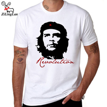 Zilinglan Че Гевара герой ситец мужчин футболка короткий рукав повседневные футболки Hipster Pattern футболки крутые Топы размер США/Евро