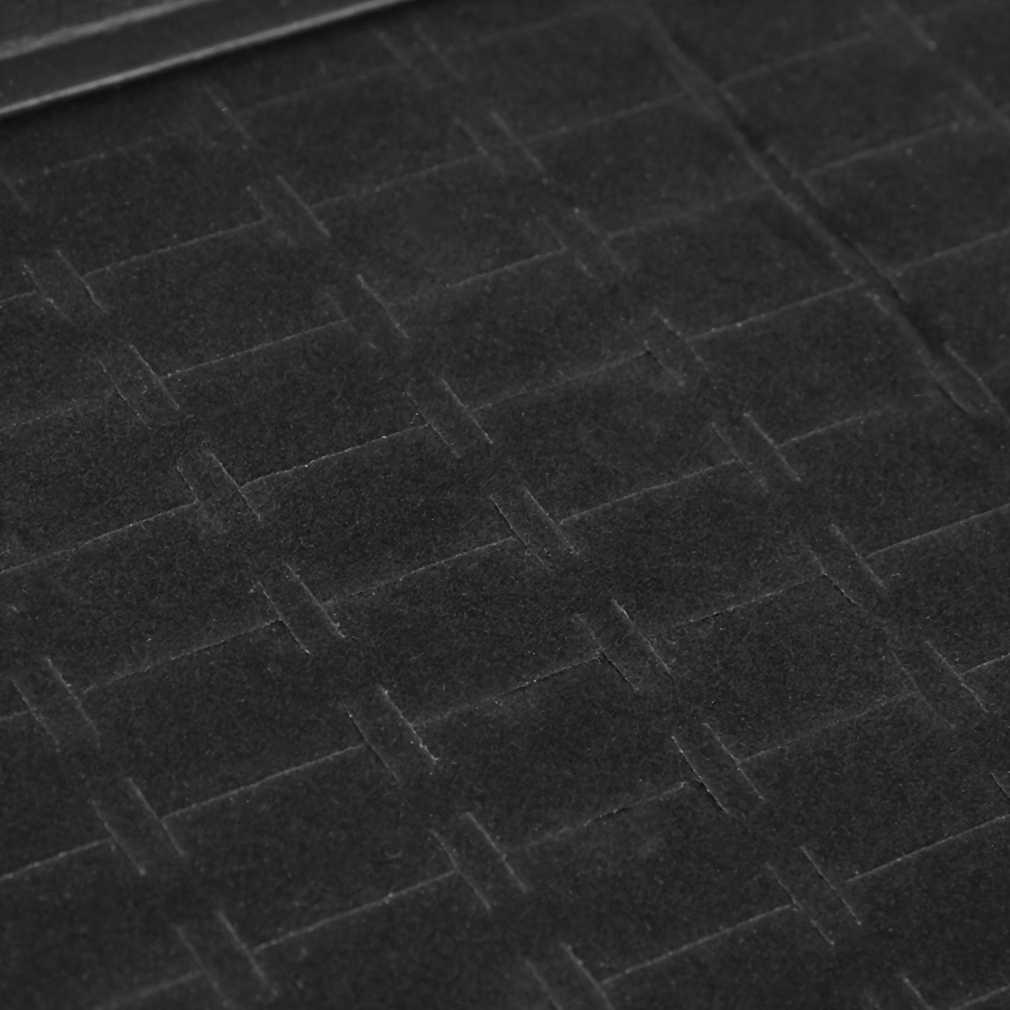 100 スロットソフトベルベットリングイヤリングディスプレイボックスと蓋トレイ収納ケースホルダーショーケースブラックジュエリーボックス