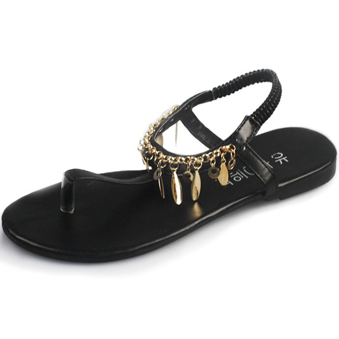 Crystal Gladiator Sandals Summer Flip Flops Casual Shoes Woman Slip On Flats Fringe Shoes Women Size 35-39 hee grand 2017 new gladiator sandals gold silver shoes woman summer flip flops slip on creepers casual women shoes xwz3847