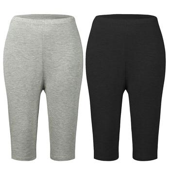 Plus Size Bamboo Fiber Leggings Elastic High Waist Leggings Workout Push Up Fitness Legging Summer Leggings Short Big Size 7xl 1