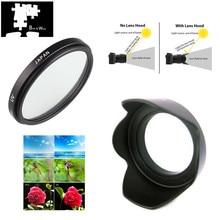 UV Filter & Flower Lens Hood for Panasonic LUMIX DC FZ80 DC FZ82 FZ80 FZ82 Camera